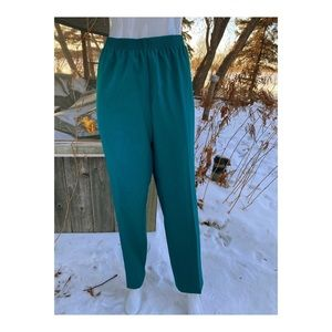Vtg High Waist Trousers Casual Workwear Stretch